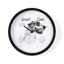 Harlequin Great Dane Wall Clock