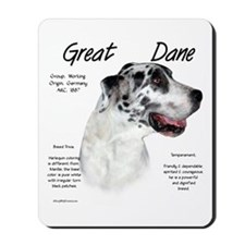 Harlequin Great Dane Mousepad