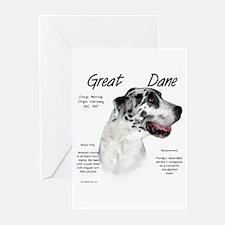 Harlequin Great Dane Greeting Cards (Pk of 10)