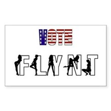 Vote Larry Flynt Rectangle Decal