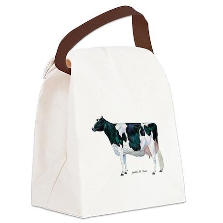 Holstein Cow Canvas Lunch Bag