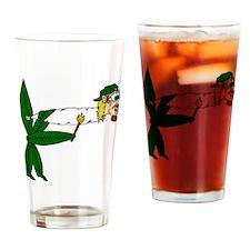 Smoking pot leaf Drinking Glass