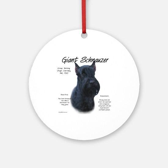 Giant Schnauzer Round Ornament