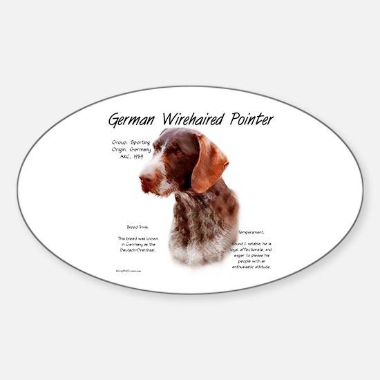 German Wirehaired Pointer Sticker (Oval)