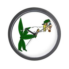 Smoking pot leaf Wall Clock