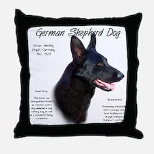 Black GSD Throw Pillow