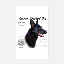 Black GSD Rectangle Decal