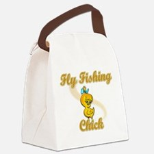 Fly Fishing Chick #2 Canvas Lunch Bag