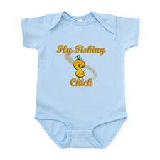 Fly Fishing Chick #2 Infant Bodysuit