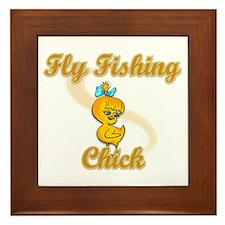 Fly Fishing Chick #2 Framed Tile