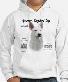 White GSD Hoodie