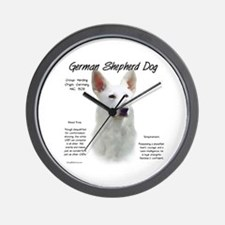 White GSD Wall Clock