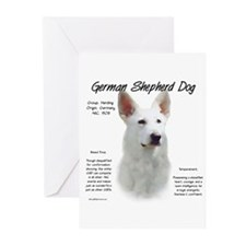 White GSD Greeting Cards (Pk of 10)