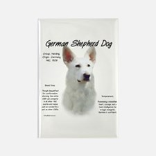 White GSD Rectangle Magnet