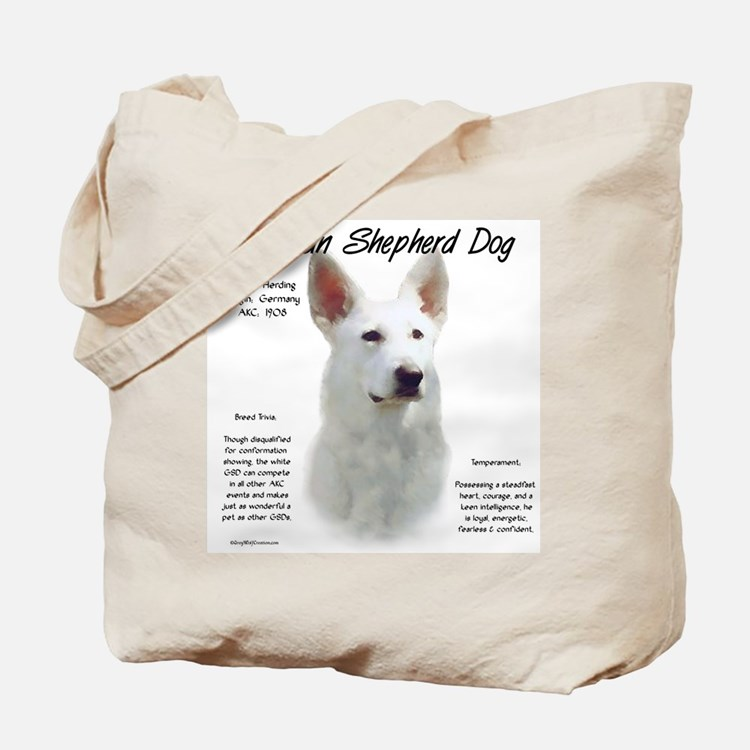 White GSD Tote Bag