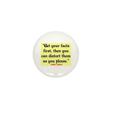MARK TWAIN - FACTS FIRST QUOTE Mini Button (10 pac