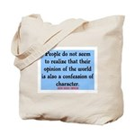 EMERSON - CHARACTOR QUOTE Tote Bag