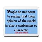 EMERSON - CHARACTOR QUOTE Mousepad