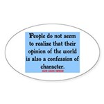 EMERSON - CHARACTOR QUOTE Sticker (Oval)