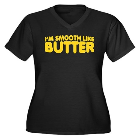 Im Smooth Like Butter Women's Plus Size V-Neck Dar