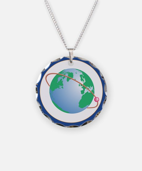 NRO seal Necklace Circle Charm