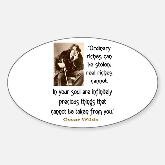 OSCAR WILDE QUOTE Sticker (Oval)