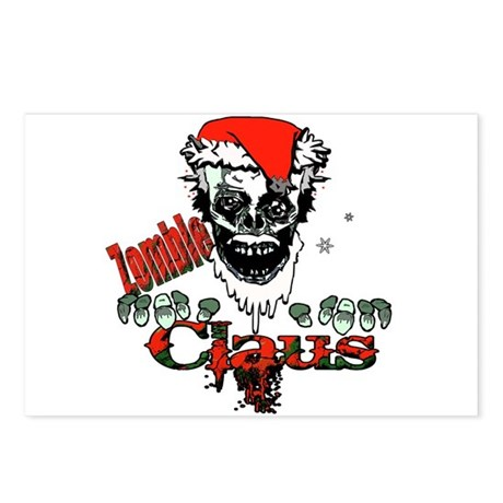 Zombie claus Postcards (Package of 8)