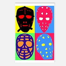 Vintage Hockey Goalie Masks Postcards (Package of