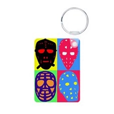 Vintage Hockey Goalie Masks Keychains