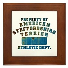 Property of American Staffordshire Terrier Framed
