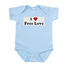 I Love Free Love Infant Creeper