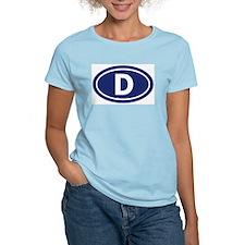 """""""D"""" Euros Women's Pink T-Shirt"""