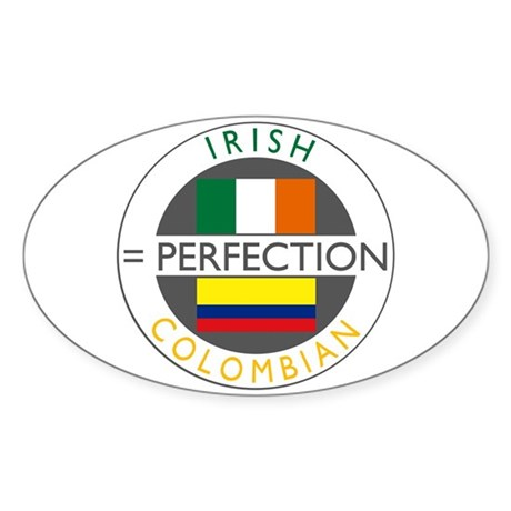Irish Colombian heritage flag Sticker