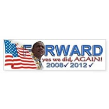 yes we did, AGAIN!: Bumper Sticker