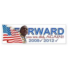 yes we did, AGAIN!: Bumper Sticker