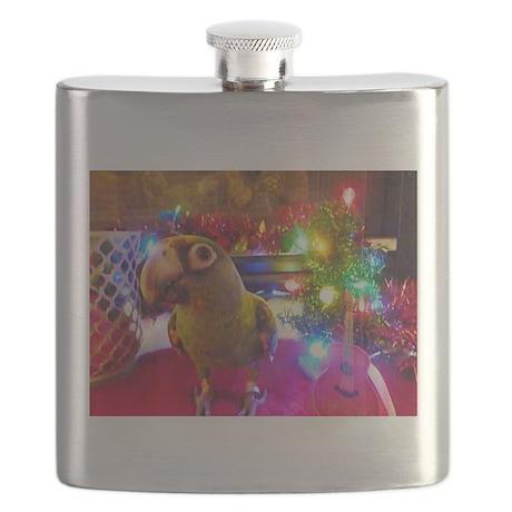 Parrot Rockstar Christmas Flask