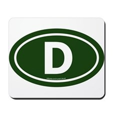 """D"" Euros Mousepad"