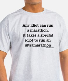 Any idiot can run a marathon, it takes a special i