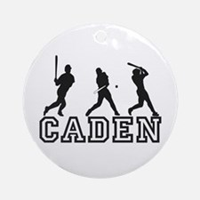 Baseball Caden Personalized Ornament (Round)