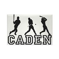 Baseball Caden Personalized Rectangle Magnet