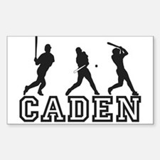 Baseball Caden Personalized Rectangle Decal
