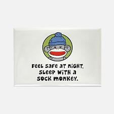 Feel Safe at Night Sleep with a Sock Monkey Rectan