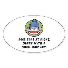 Feel Safe at Night Sleep with a Sock Monkey Sticke