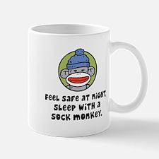Feel Safe at Night Sleep with a Sock Monkey Mug