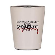 Dental Hygienist Zombie Shot Glass