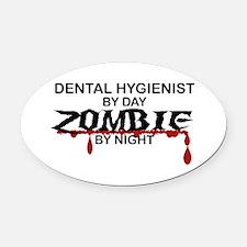 Dental Hygienist Zombie Oval Car Magnet