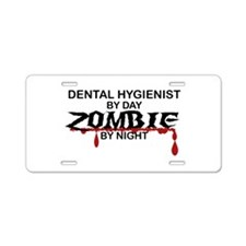 Dental Hygienist Zombie Aluminum License Plate