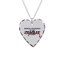 Dental Hygienist Zombie Necklace Heart Charm
