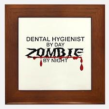 Dental Hygienist Zombie Framed Tile