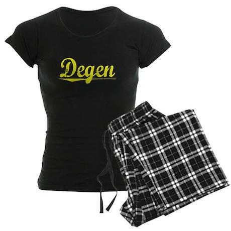 Degen, Yellow Women's Dark Pajamas